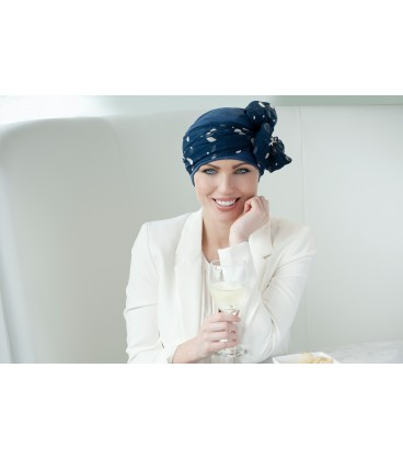 Turbante DAISY blue navy