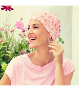Turbante YOGA fantasia floreale rosa - 0637